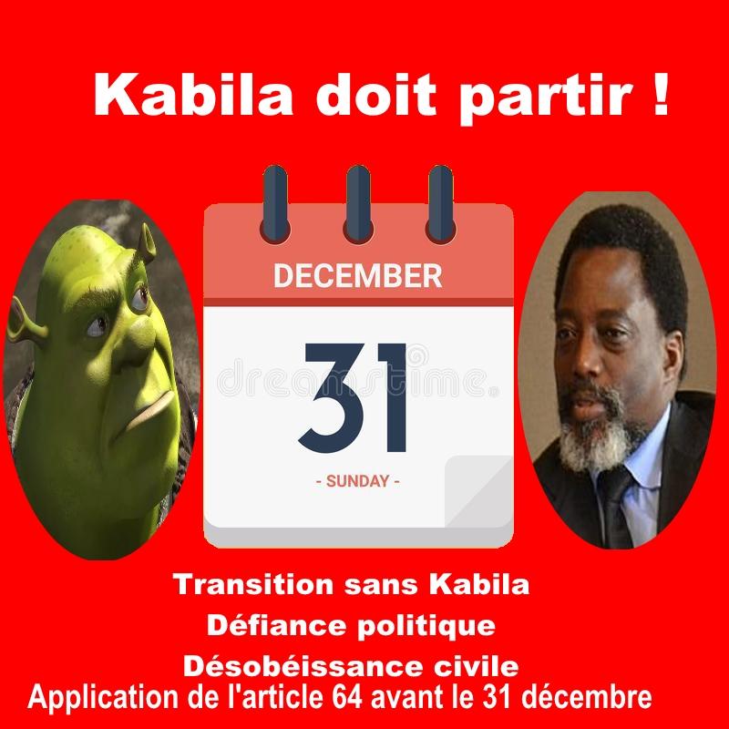 Kabila doit partir avant le 31 decembre 2017
