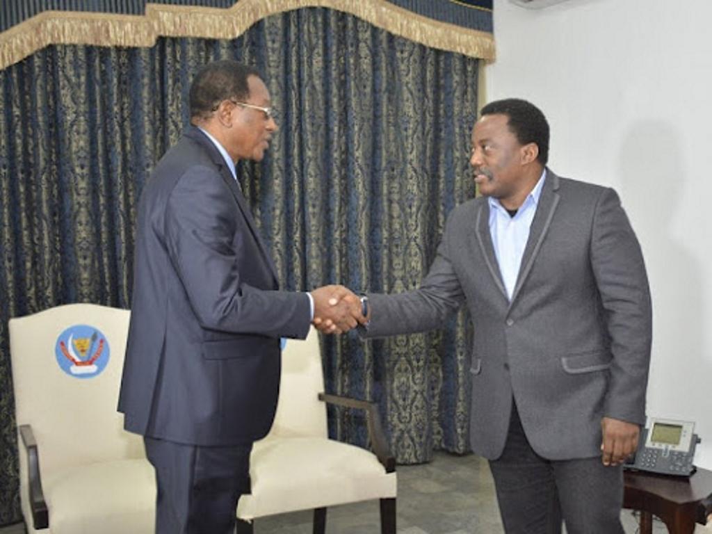 Bruno Tshibala et Joseph Kabila