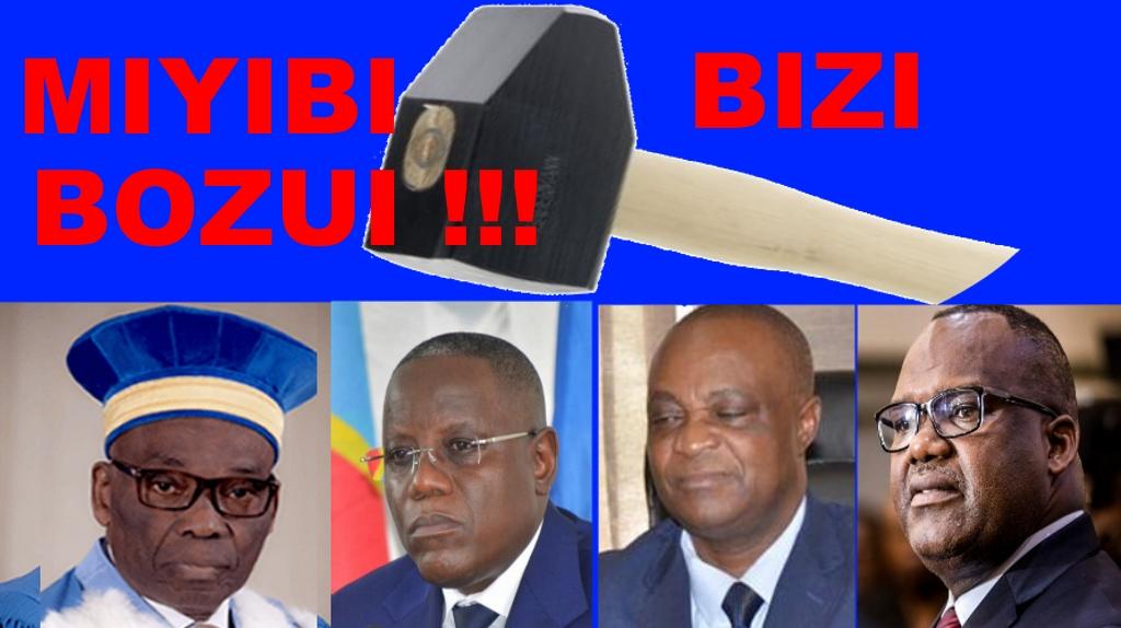M. Corneille Nangaa, Président de la Commission électorale nationale indépendante (CENI) de la République démocratique du Congo (CDR); M. Norbert Basengezi Katintima, vice-président de la CENI; M. Marcellin Mukolo Basengezi, conseiller du président de la CENI; M. Aubin Minaku Ndjalandjoko, président de l'Assemblée nationale de la République démocratique du Congo; et M. Benoit Lwamba Bindu