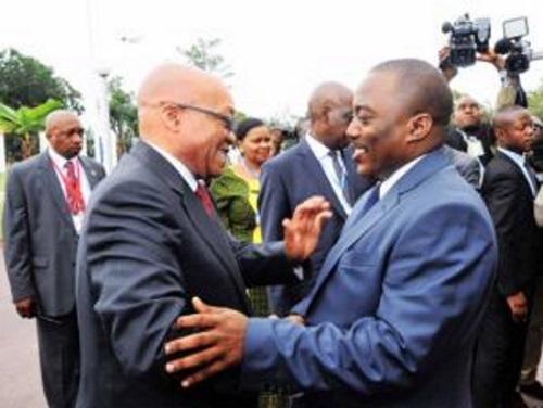 Jacob Zuma, president de l'Afrique du Sud et Joseph Kabila de la RDC