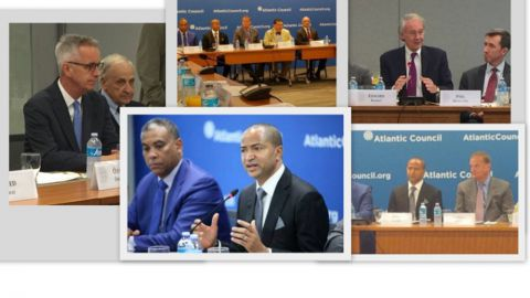 Moise Katumbi, Senateur Edward Markey, Amb. Herman Cohen, Dr. Pham, Gen James Jones, Atlantic Council