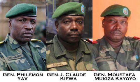 General Philemon Yav, General J. Claude Kifwa, Gen. Moustafa Mukiza Kayoyo