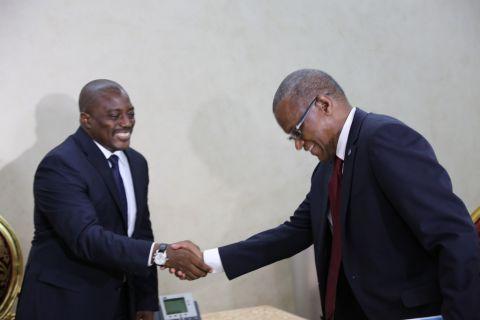Joseph Kabila et Maman Sambo Sidikou