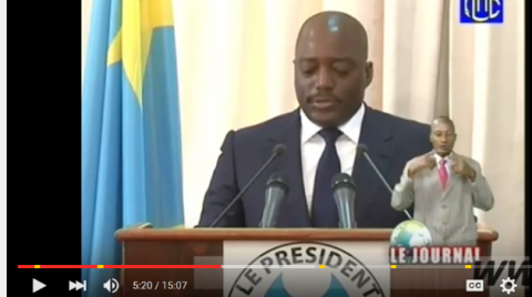 Convocation du  Dialogue National par Joseph Kabila