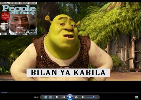 Shrek et l'Ane (alias Mukeba) sur le bilan de Joseph Kabila