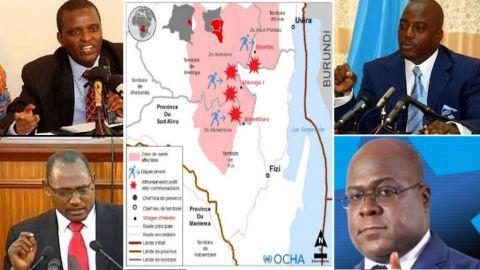 Azarias Ruberwa,  Moise Nyarugabo, Joseph Kabila, Felix Tshisekedi