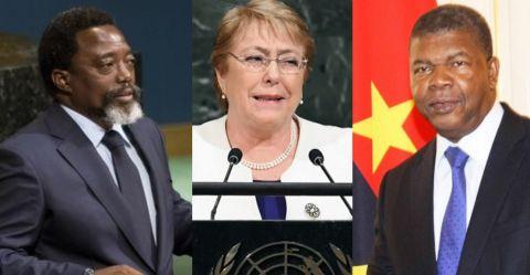 Joseph Kabila, Michelle Bachelet, João Lourenço