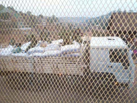 Camions de mercenaires au Camp Saio de Bukavu