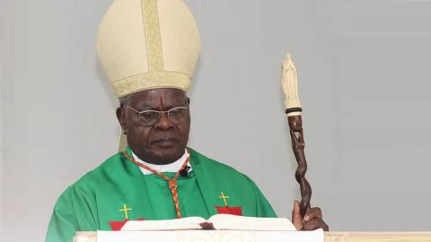 Le cardinal Laurent Monsengwo Pansiya