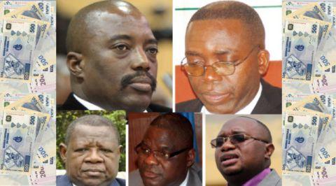 Lambert Mende, Luzolo Bambi, Felix Kabange, Joseph Kabila et Matata Mponyo