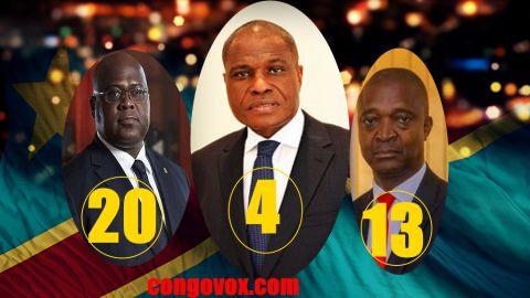 Felix Tshisekedi, Martin Fayulu,  Emmanuel Shadary