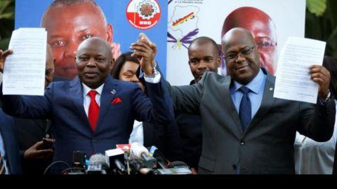 Vital Kamerhe et Felix Tshisekedi