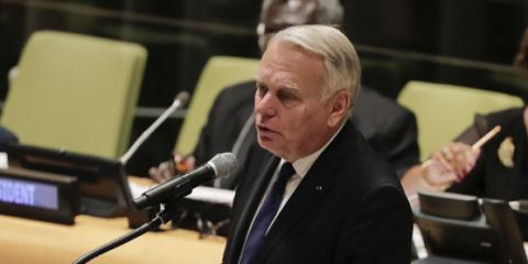 Jean-marc ayrault aux Nations unies en septembre 2016