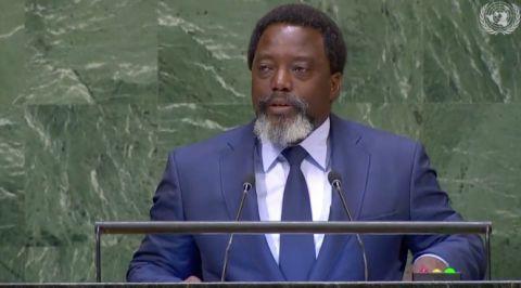 Joseph Kabila, a la 73eme assemblee annuelle de l'ONU
