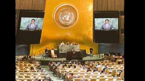 Joseph Kabila au 25/09/2018 aux Nations-Unies
