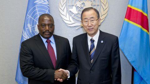 Joseph Kabila et Ban ki Moon