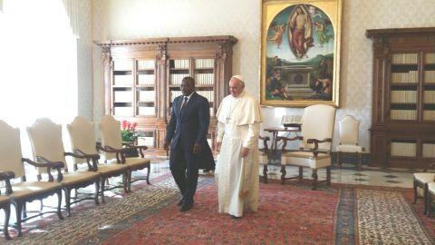 Joseph Kabila and le Pape François