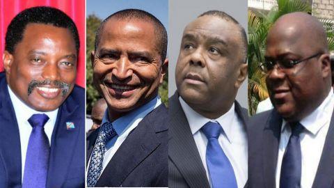 Joseph Kabila, Moise Katumbi, Jean-Pierre Bemba, Felix Tshisekedi
