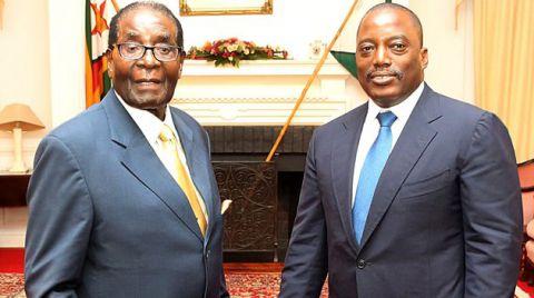 Kabila et  Mugabe