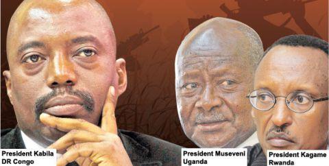 Joseph Kabila, Yoweri Museveni et Paul Kagame