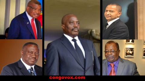 Kaleve Mutond, Richard Muyez, Joseph Kabila, Moise Katumbi et Kyungu wa Kumwanza