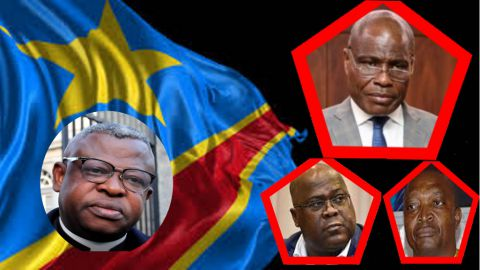 Abbé Donatien Nshole, Martin Fayulu, Felix Tshisekedi, Emmanuel Shadary