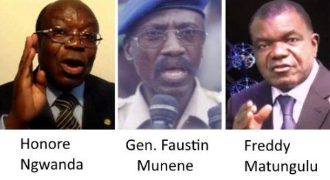 Honore Ngwanda, Faustin Munene, freddy Matungulu