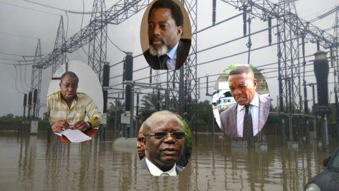 DG  Jean-Bosco KAYOMBO , Joseph Kabila, PCA Alain Atundu et Andre Kimbuta