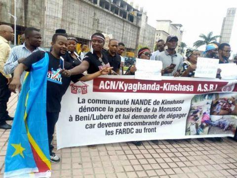 Manifestation de la communauté Nande le 29/11/2019 à Kinshasa