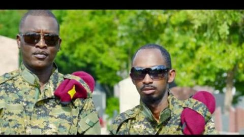 Maj Callixte N. Sankara (Droite) est parmi les hauts gradés du mouvement