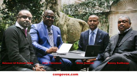 Salomon Idi Kalonda Della , Felix Tshisekedi, Moise Katumbi et Sammy Badibanga