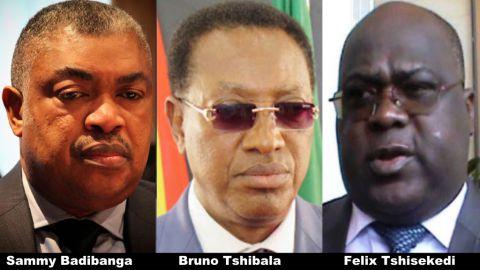 Sammy Badibanga, Bruno Tshibala, Felix Tshisekedi
