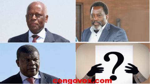Eduardo Dos Santos, Joao Lourenço, Joseph Kabila et un inconnu