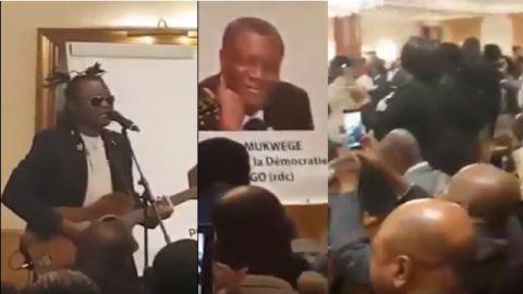 Le départ de Kabila chanté en présence du Dr. Mukwege