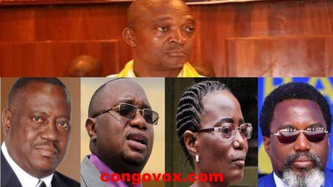 Ramazani Shadary, Richard Muyez, Felix Kabange, Jaynet Kabila, Joseph Kabila