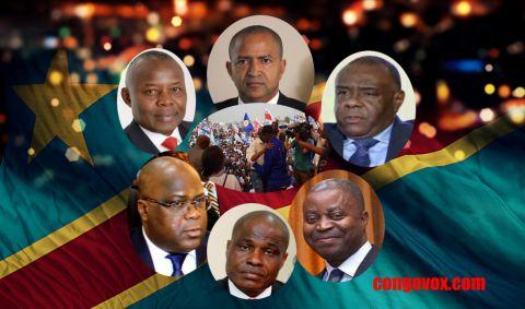 Vital Kamerhe, Moise Katumbi, Jean-Pierre Bemba, Adolphe Muzito, Martin Fayulu, Felix Tshisekedi