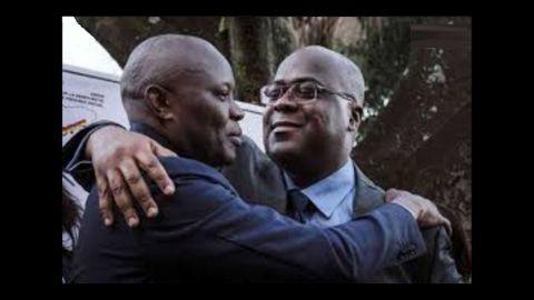 Vital Kamrhe et Felix Tshisekedi, président nommé par Joseph Kabila