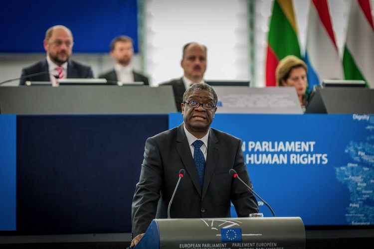 Dr. Denis Mukwege, Prix Nobel, Parlement Europeen,
